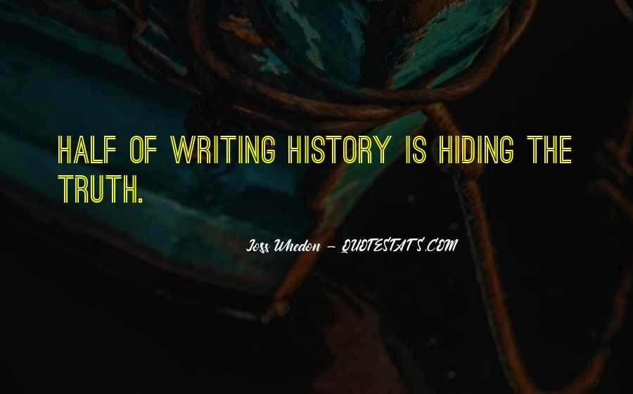 Truth Hiding Quotes #591244