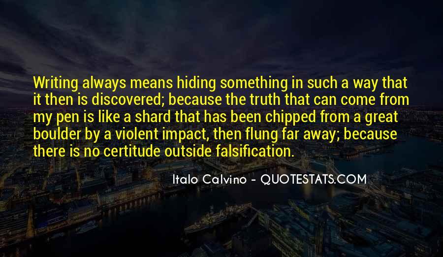 Truth Hiding Quotes #992148
