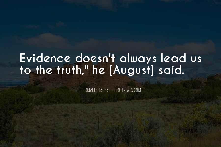 Truth Said Quotes #9990