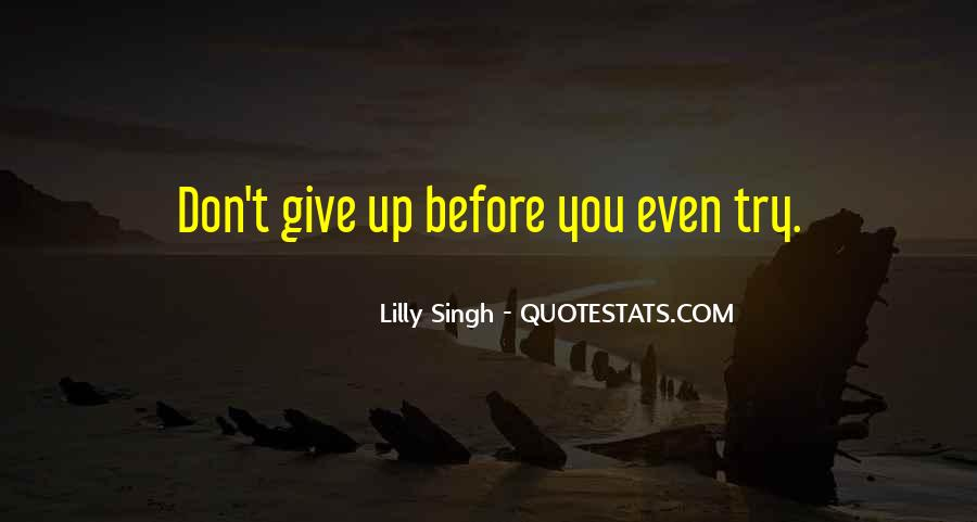 Try Before You Give Up Quotes #1391328