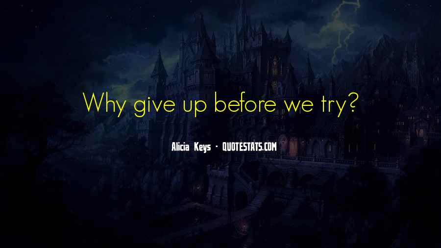 Try Before You Give Up Quotes #853276