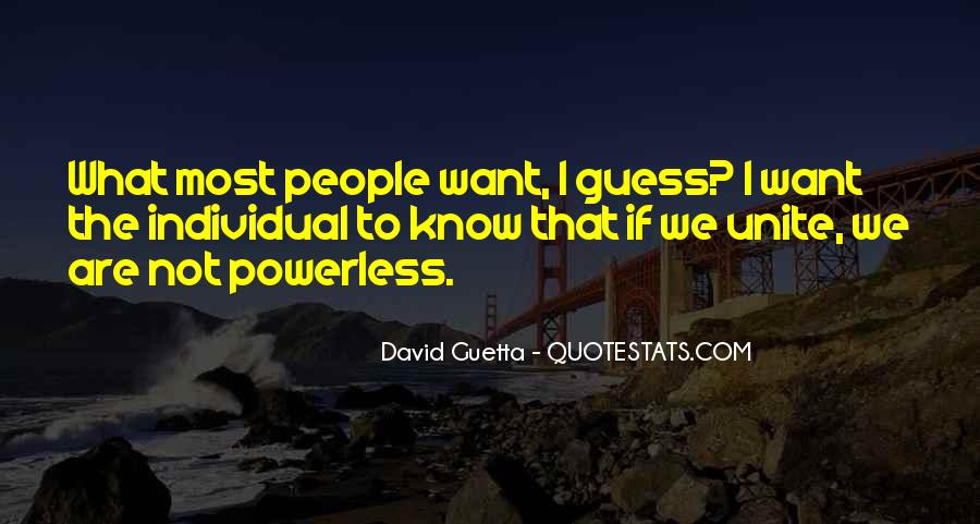 Quotes About David Guetta #87042