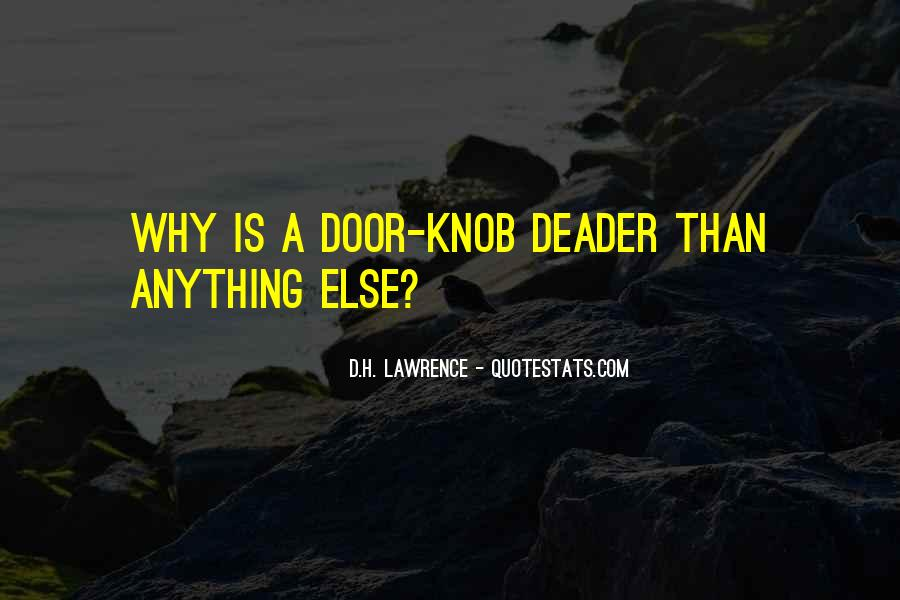 Quotes About The Doors #40357