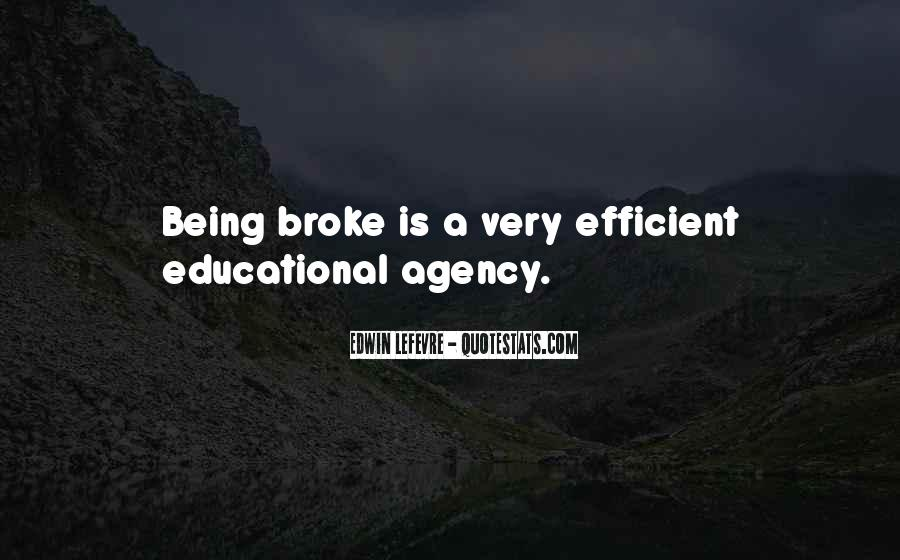 Quotes About Being Broke #1334790