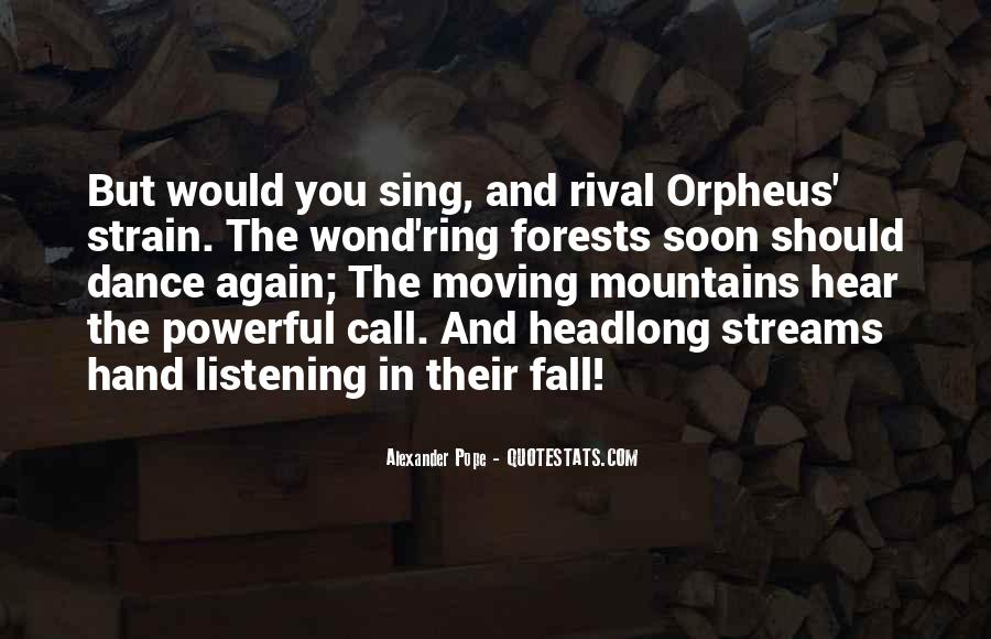 Quotes About Orpheus #452091