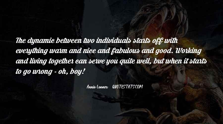 Two Individuals Quotes #1184499
