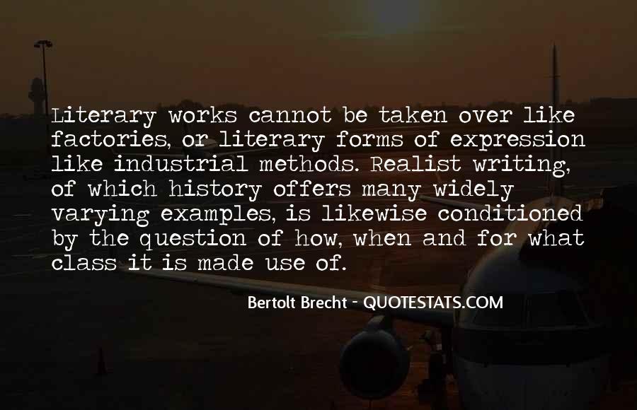 Quotes About Bertolt Brecht #106527