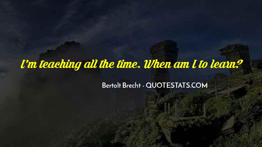 Quotes About Bertolt Brecht #21132