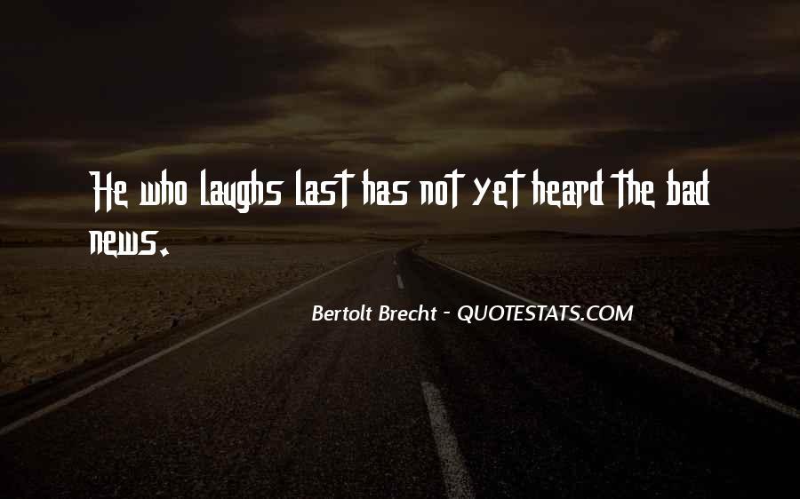 Quotes About Bertolt Brecht #747435
