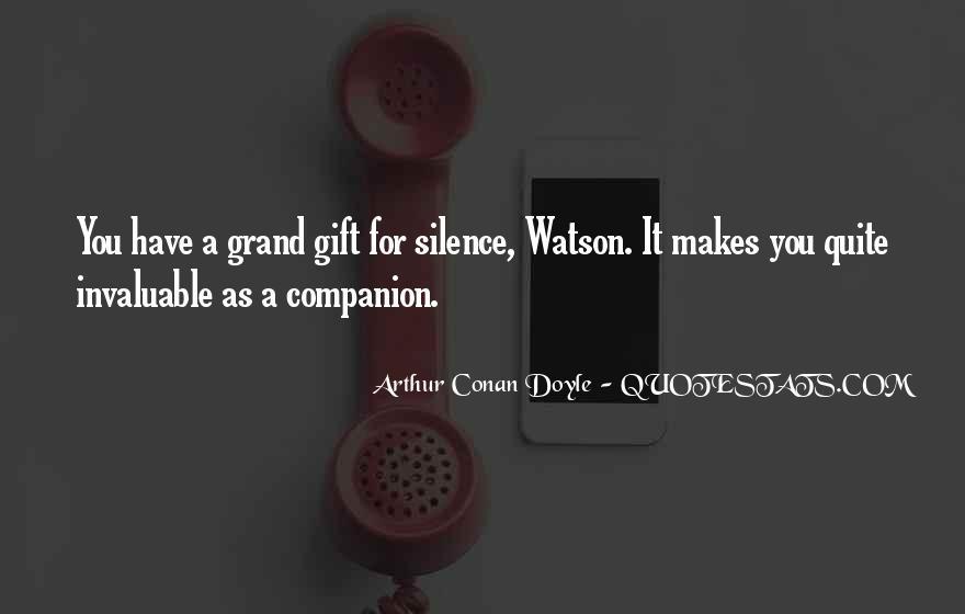 Quotes About Arthur Conan Doyle #1855
