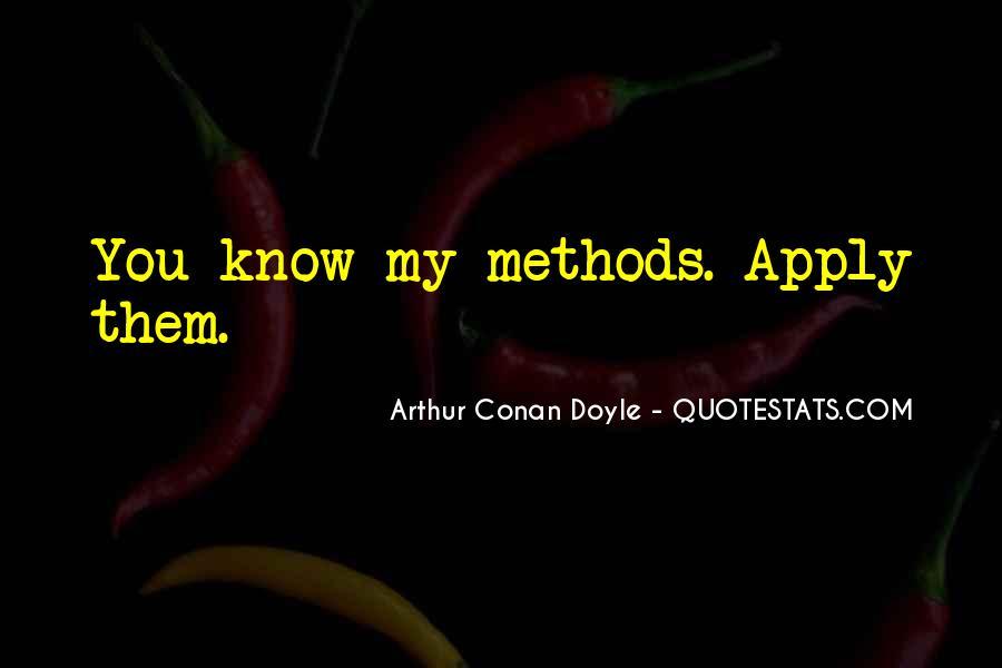 Quotes About Arthur Conan Doyle #93126
