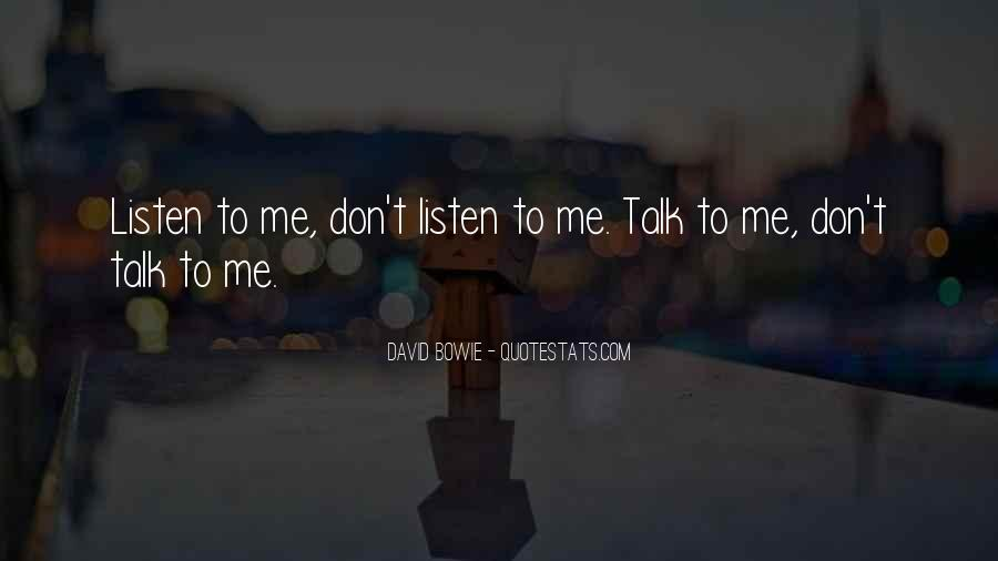 U Dont Talk Me Quotes #745442