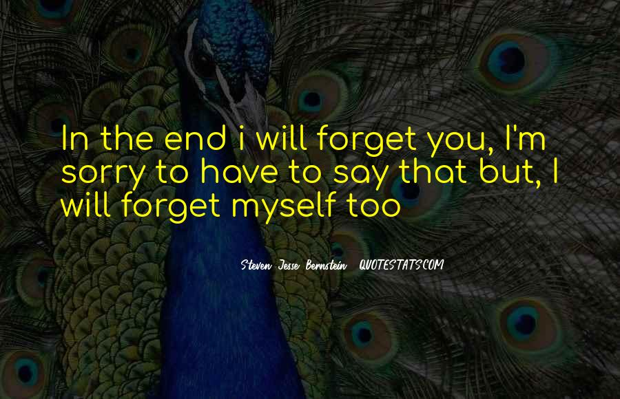 U Forget Me Quotes #3410