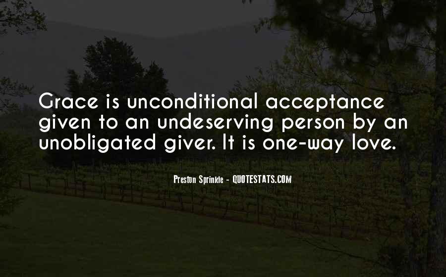 Unconditional Love Acceptance Quotes #53166
