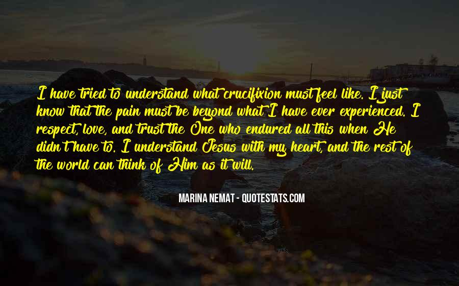 Understand Others Pain Quotes #28046