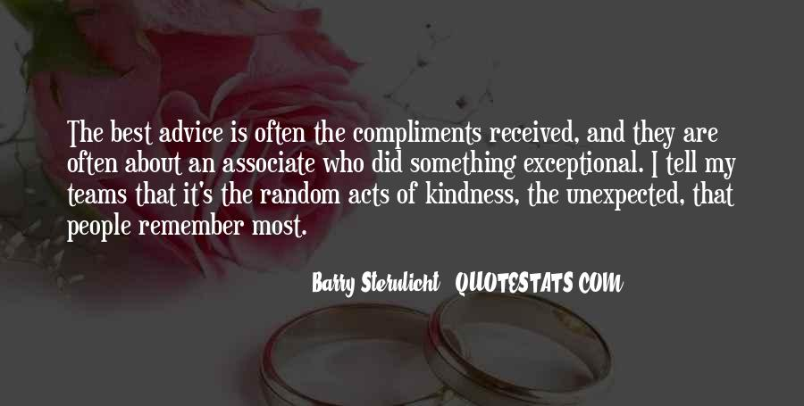 Unexpected Acts Of Kindness Quotes #391714