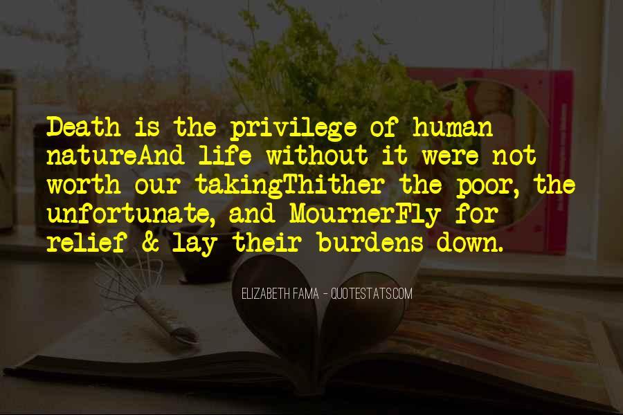 Unfortunate Death Quotes #1203694