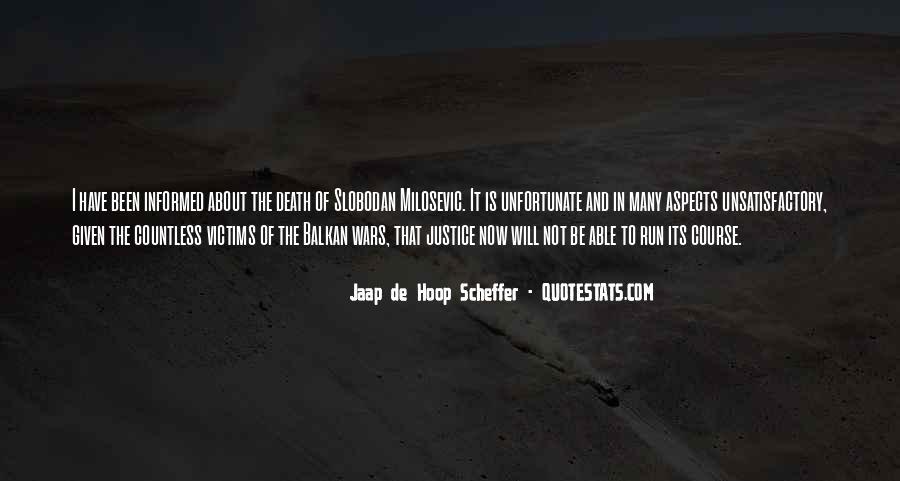 Unfortunate Death Quotes #248193