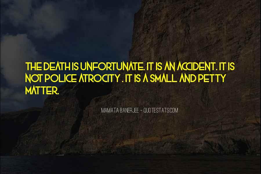 Unfortunate Death Quotes #833740