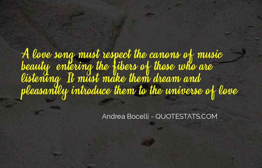 Universe And Music Quotes #144996