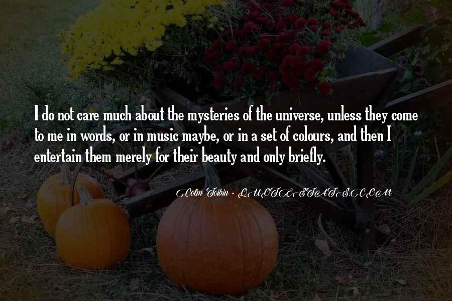 Universe And Music Quotes #1583435