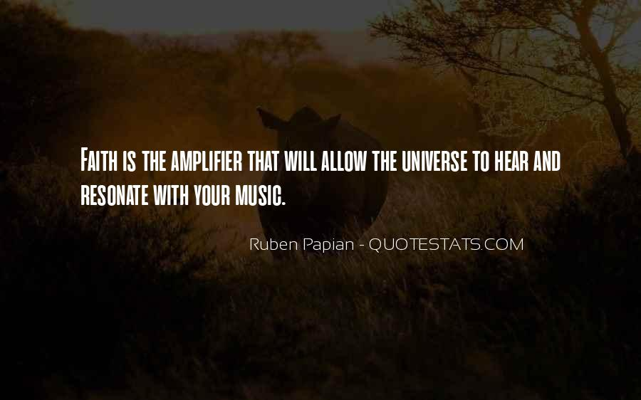 Universe And Music Quotes #1618433