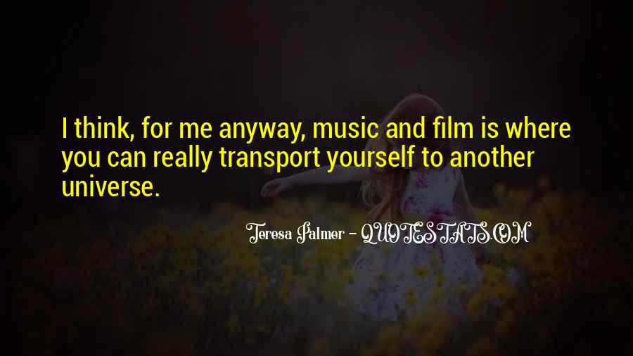 Universe And Music Quotes #1777952