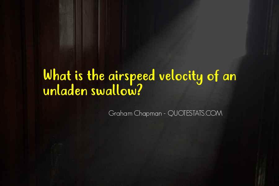 Unladen Swallow Quotes #1871228