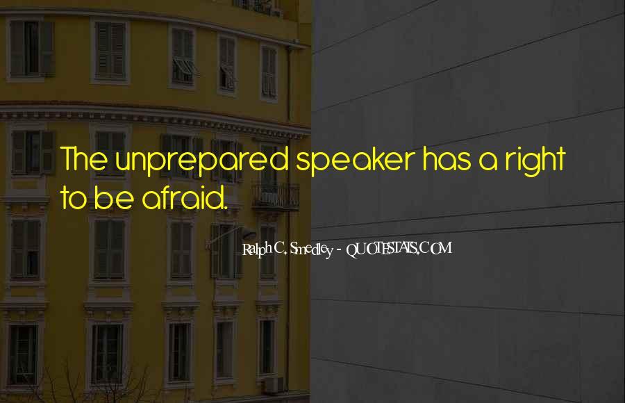 Unprepared Quotes #51725