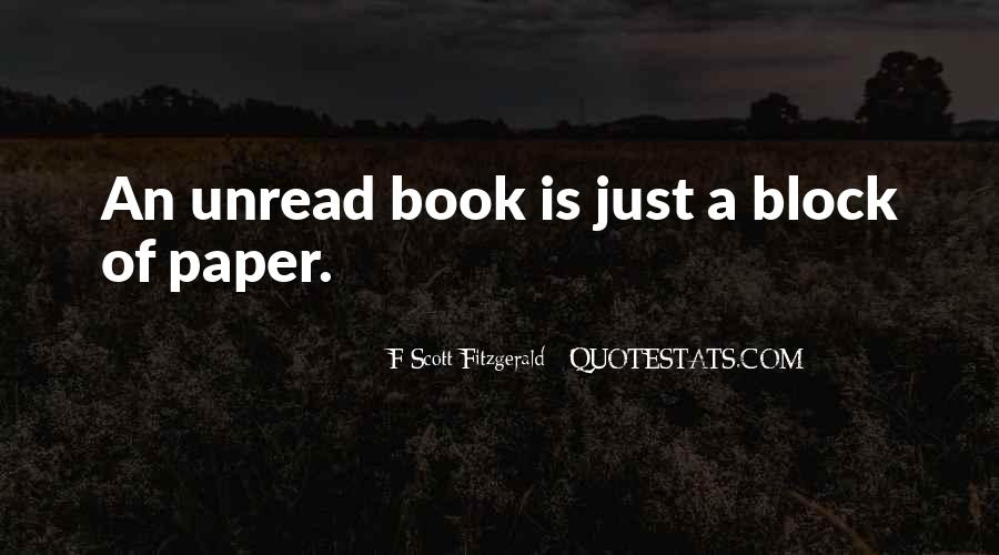 Unread Book Quotes #1529360