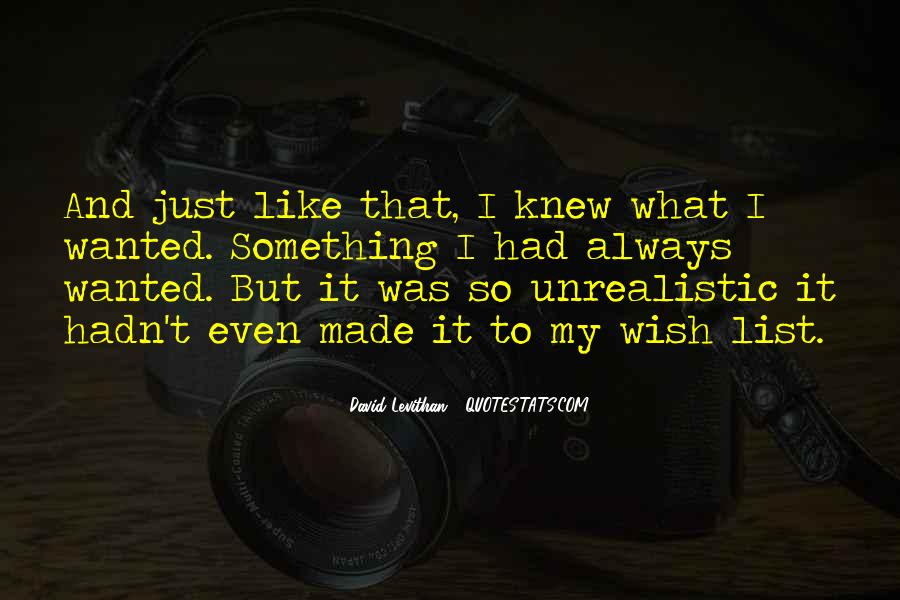 Unrealistic Quotes #327351