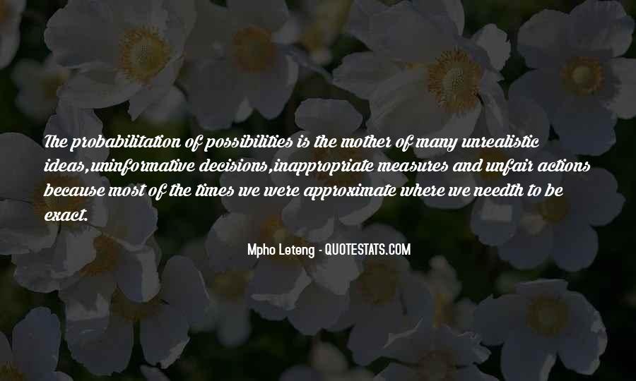 Unrealistic Quotes #736326