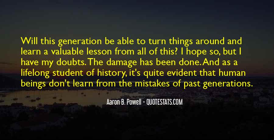 Quotes About Not Repeating Past Mistakes #1287748