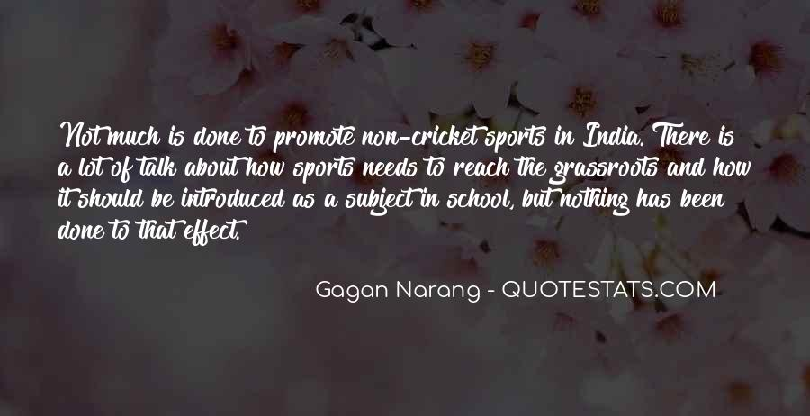 Quotes About Cricket In India #972503