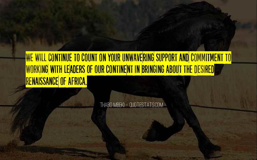 Unwavering Commitment Quotes #1307874