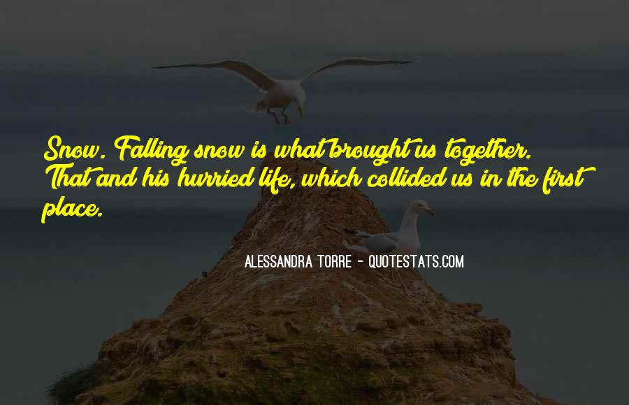Quotes About First Snow #1023514