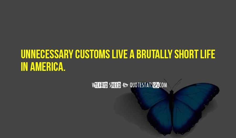 Us Customs Quotes #158803