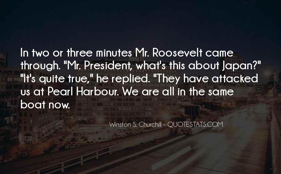 Us President Roosevelt Quotes #473687