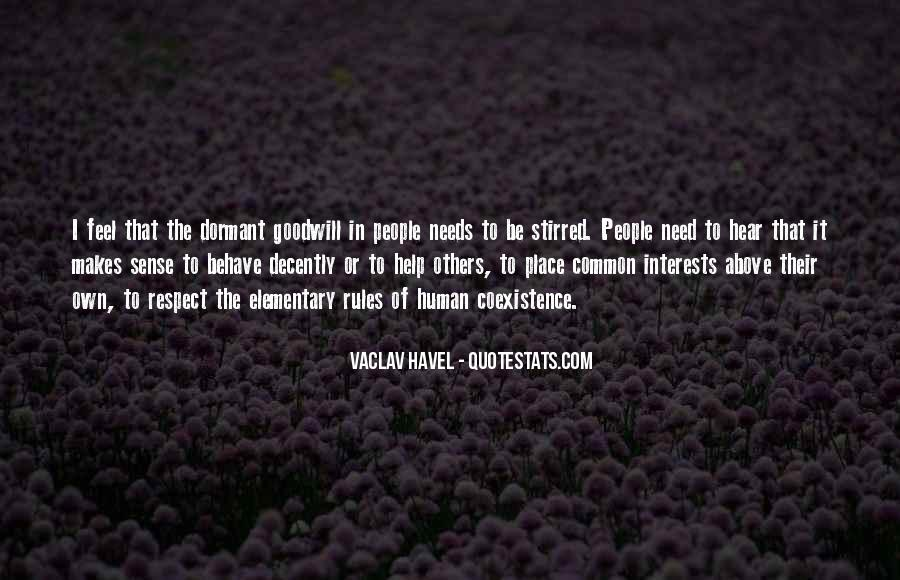 Vaclav Havel's Quotes #157422