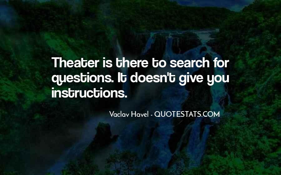 Vaclav Havel's Quotes #162540