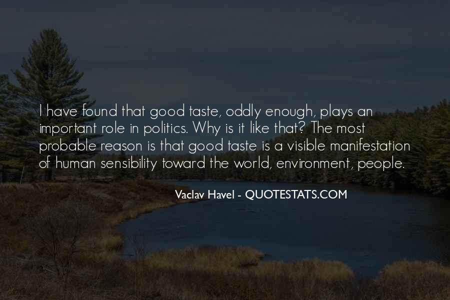 Vaclav Havel's Quotes #382774