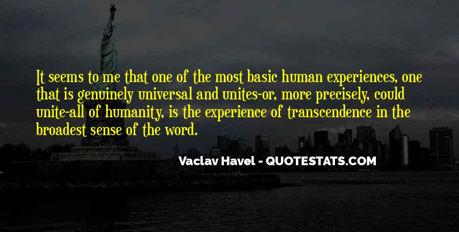 Vaclav Havel's Quotes #419591
