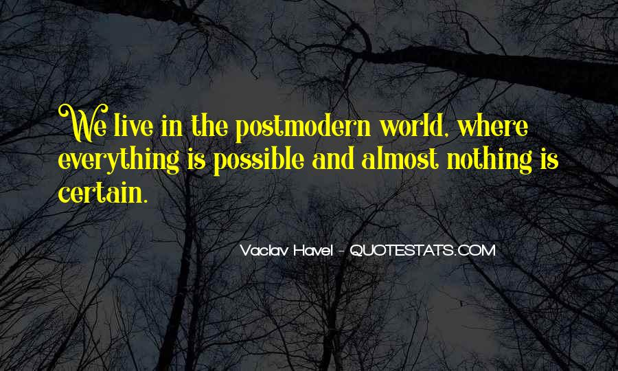 Vaclav Havel's Quotes #727331