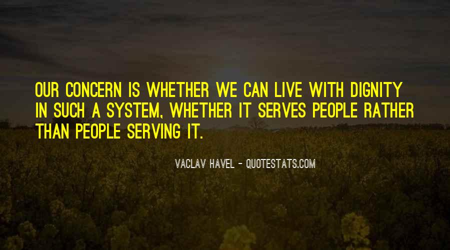 Vaclav Havel's Quotes #780107