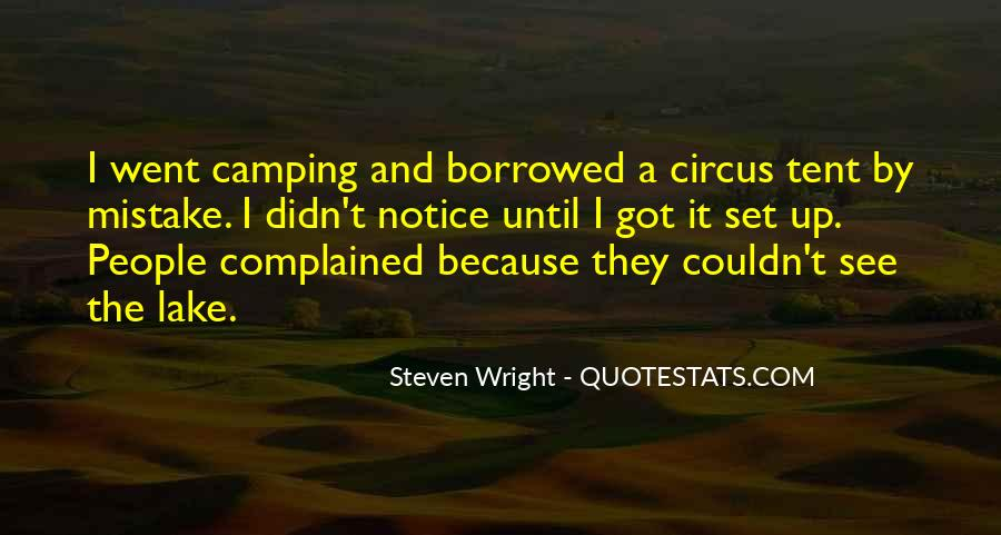 Quotes About Tent Camping #165336