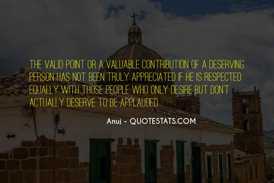 Valuable Contribution Quotes #1502153