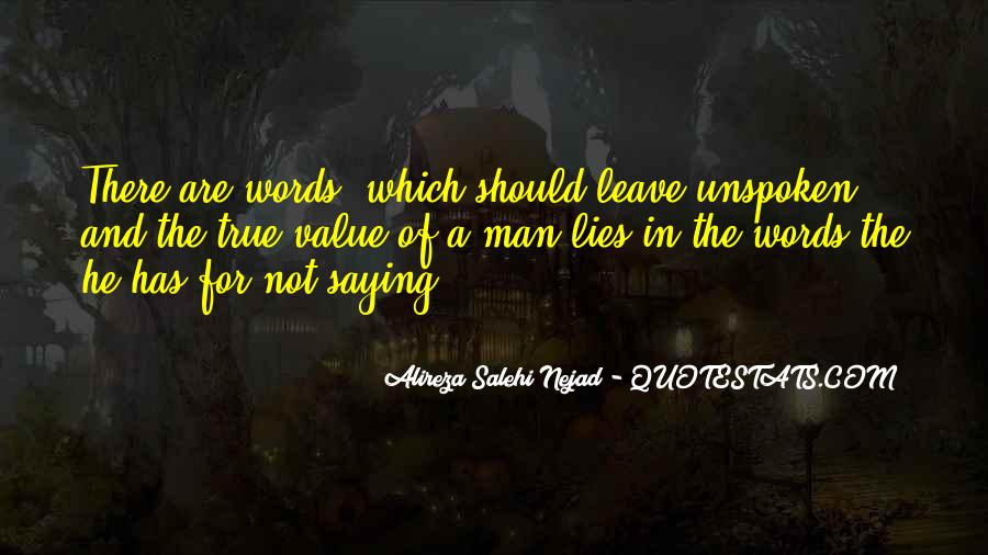Value Of Words Quotes #1461997