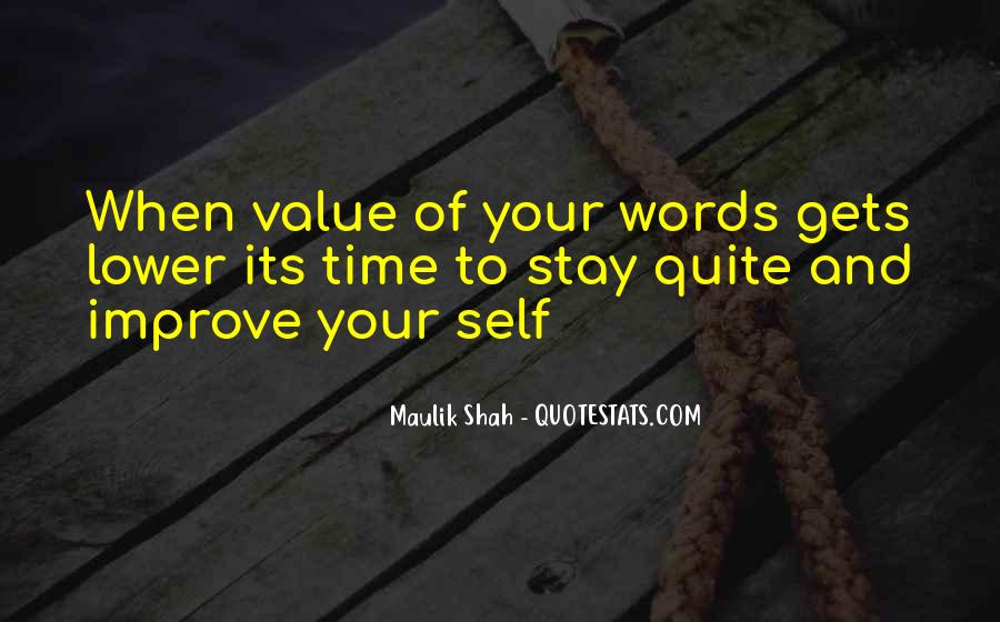 Value Of Words Quotes #573903
