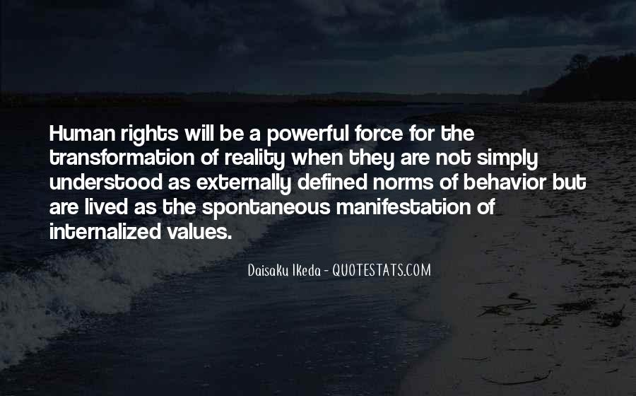 Values And Norms Quotes #1001883