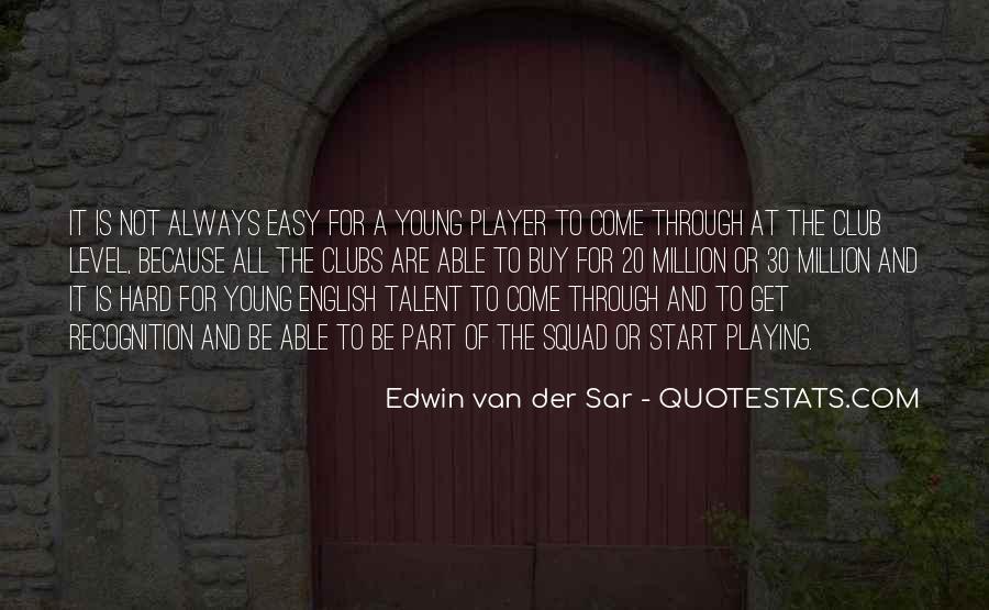 Van Der Sar Quotes #71806